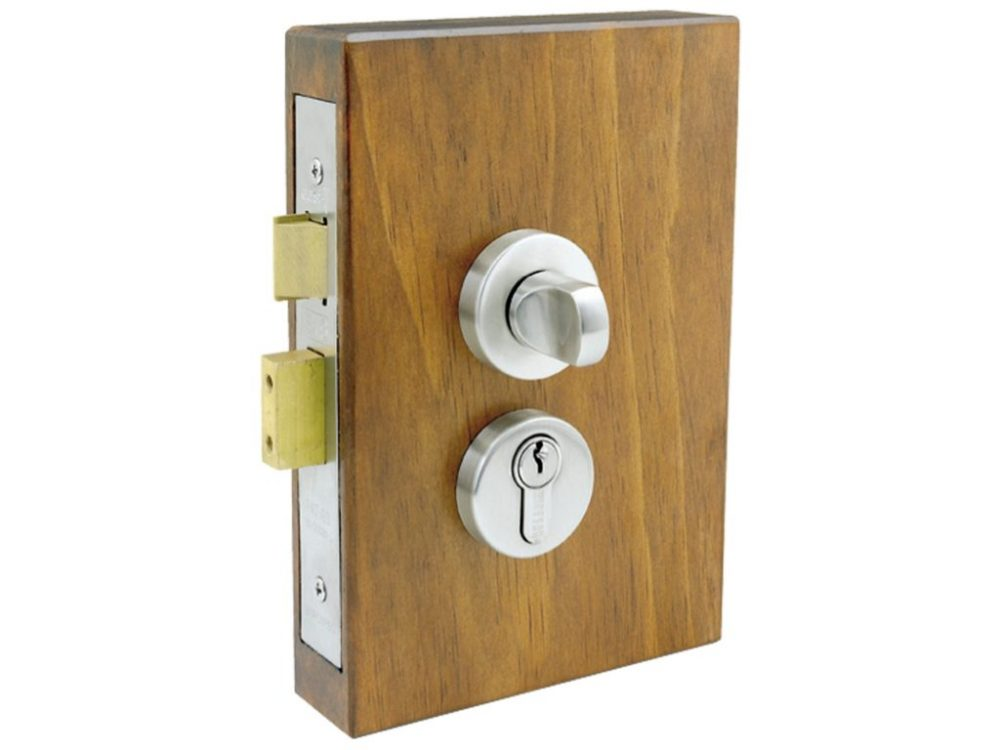 Windsor Brass 57mm Backset Round Double Turn Lockset
