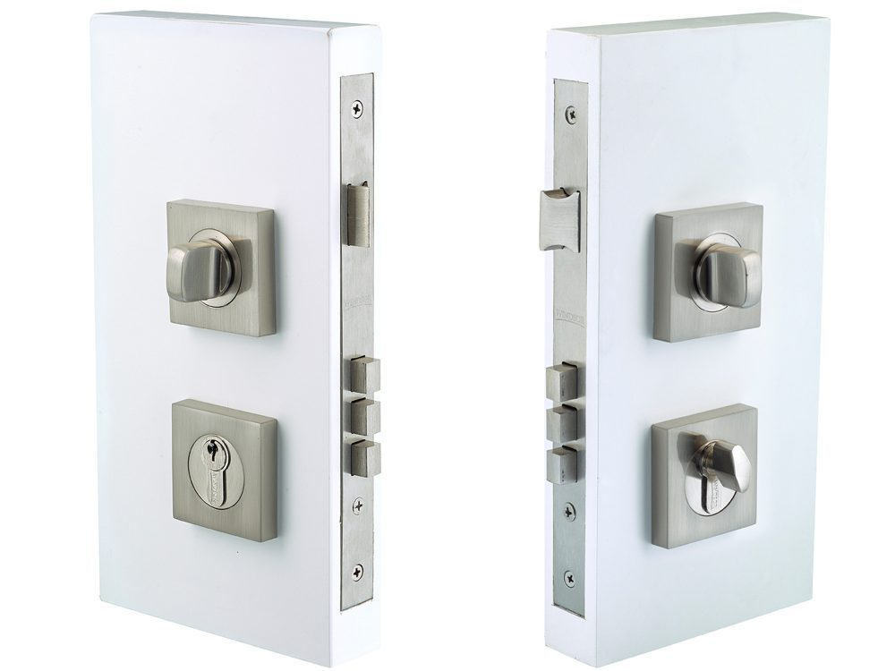 Windsor Brass 60mm Backset Square Double Turn Lockset