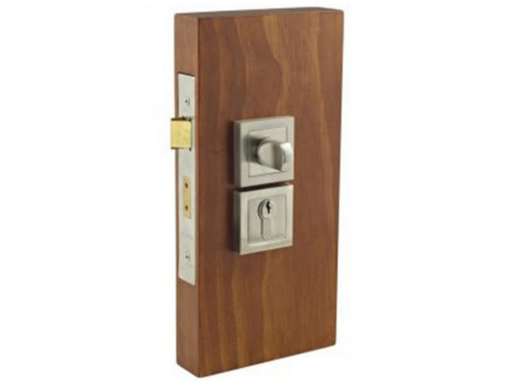 Windsor Brass Square Double Turn Lockset