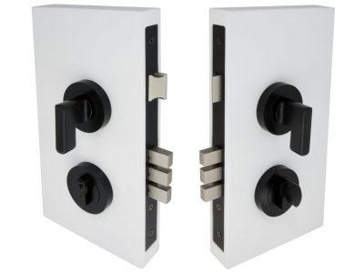 Windsor 60mm Backset Round Double Turn Mini Lever Locksets