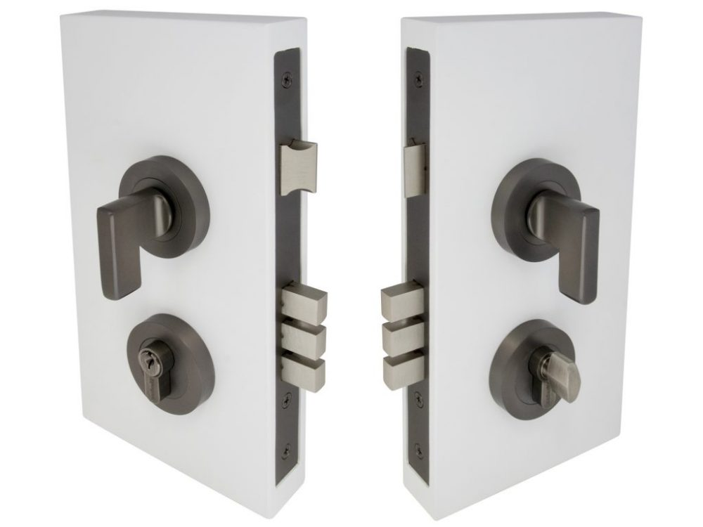 Windsor Brass 60mm Backset Round Double Turn Mini Lever Lockset
