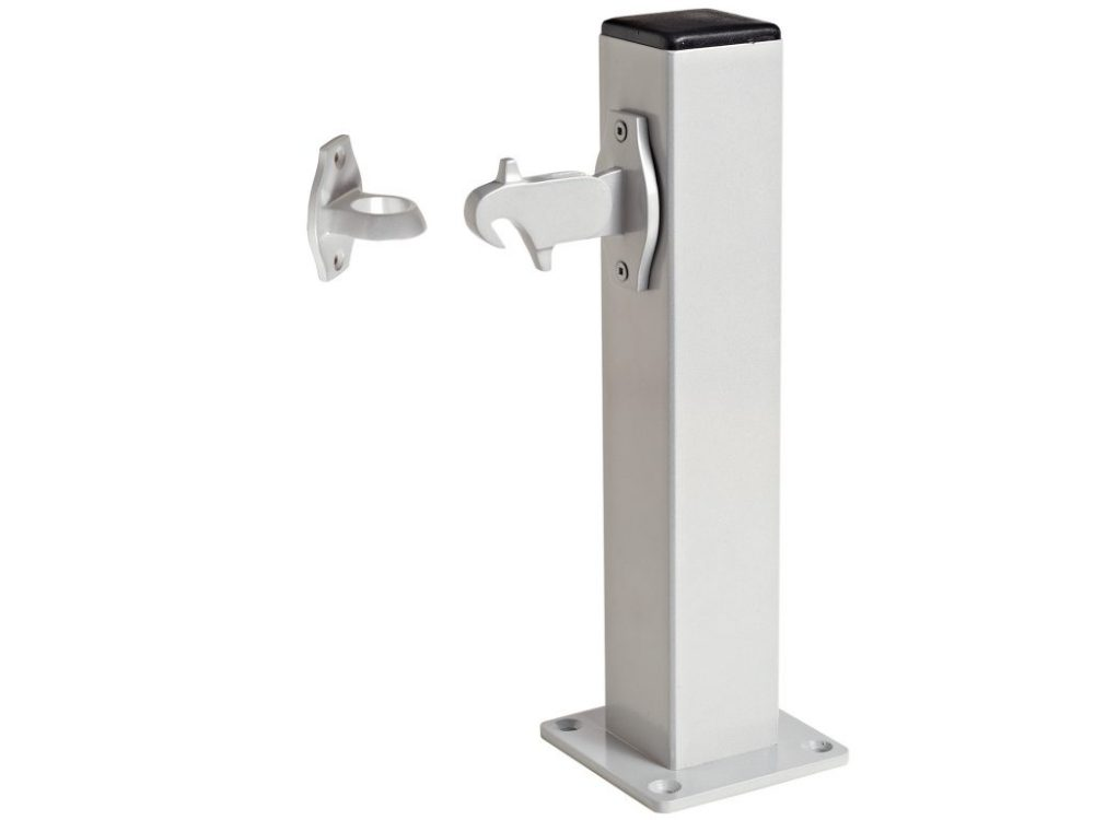 Windsor Brass Pedestal Post With Auto Door Holder