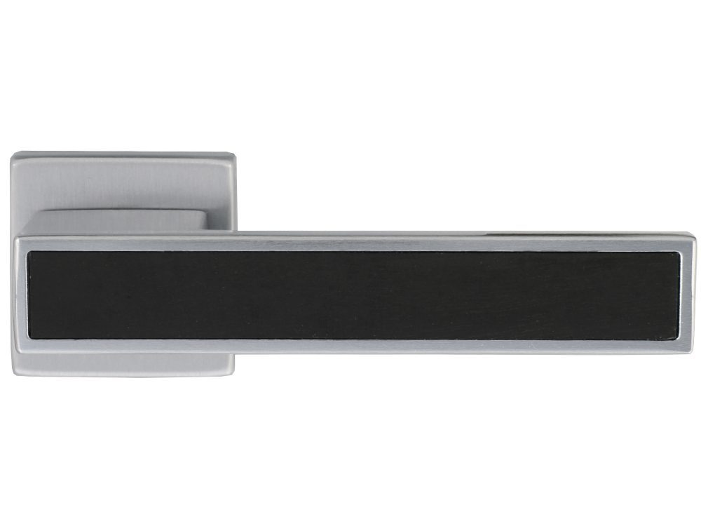 Windsor Polo-Nero Lever Handle On Square Rose