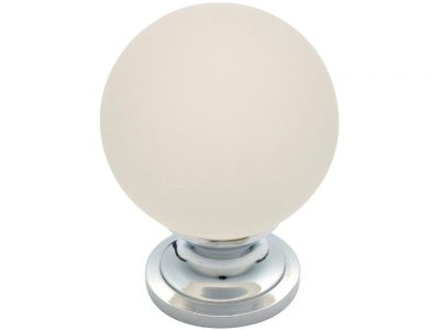 Tradco Frosted Glass Round Knob