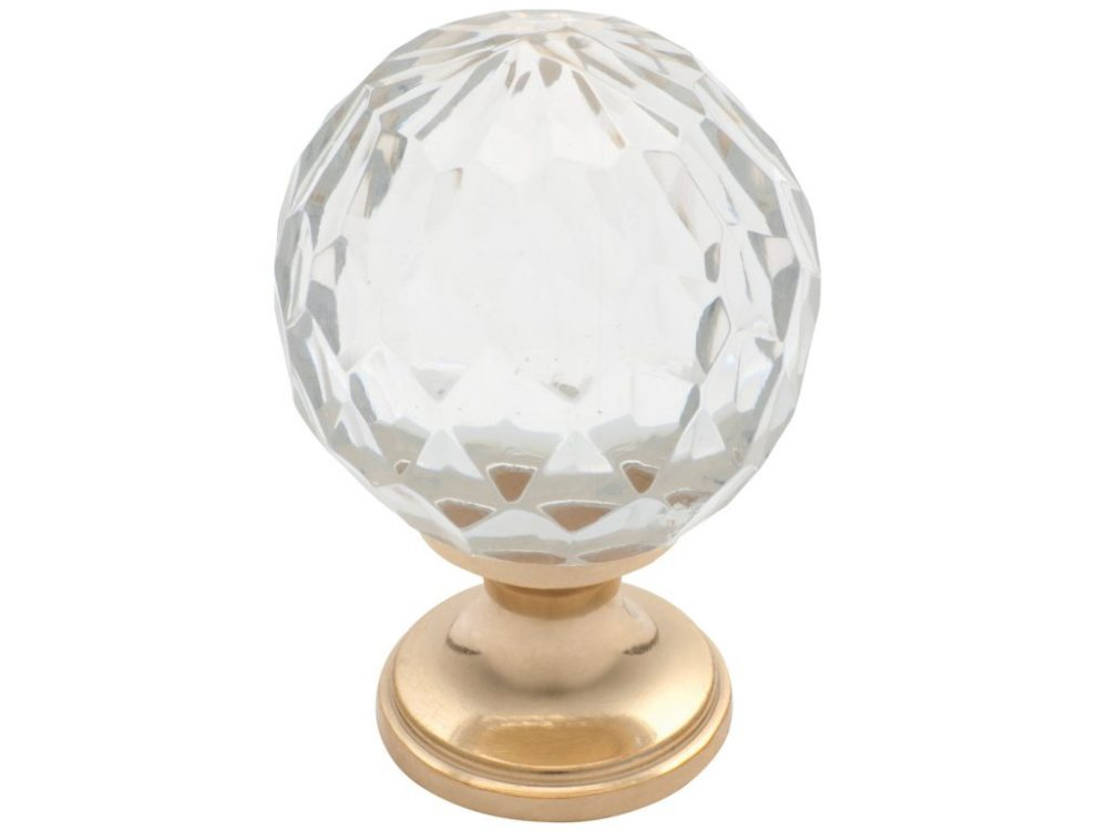 Tradco Cut Glass Round Knob