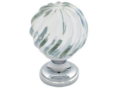 Tradco Swirl Glass Round Knob