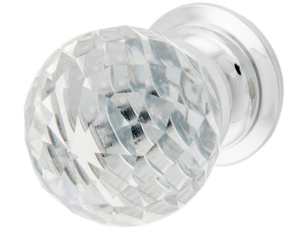Tradco Clear Diamond Glass Knob