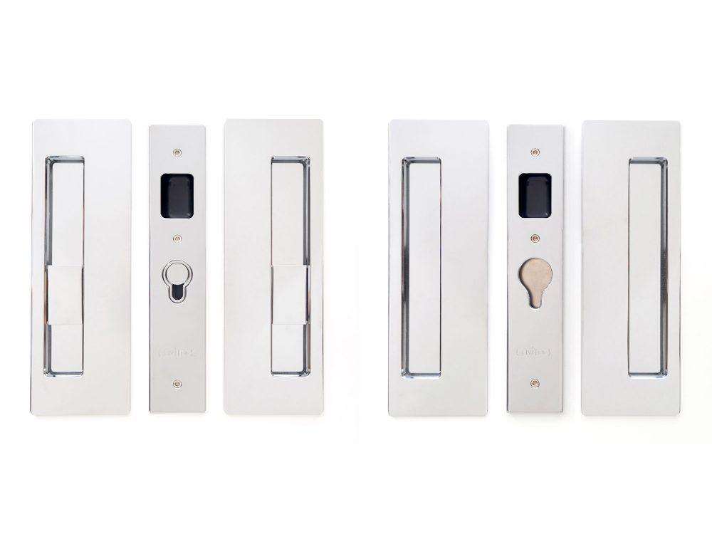CL400D Series Double Door Privacy Set Magnetic Snib/Snib