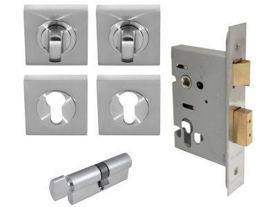 Windsor Brass Square Double Turn Lockset