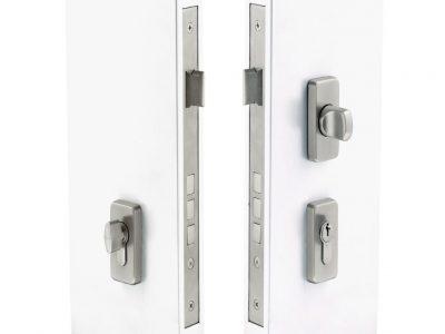 Windsor Brass Uni Turn Lock With Rectangular Escutcheons