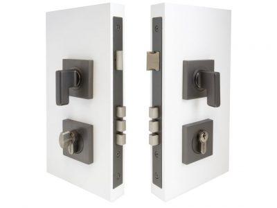 Windsor 60mm Backset Square Double Turn Mini Lever Locksets