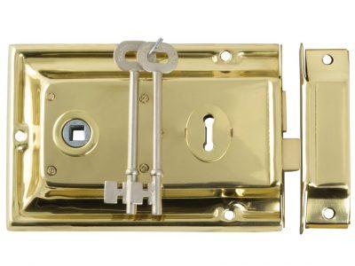 Tradco Low Security Brass Rim Lock