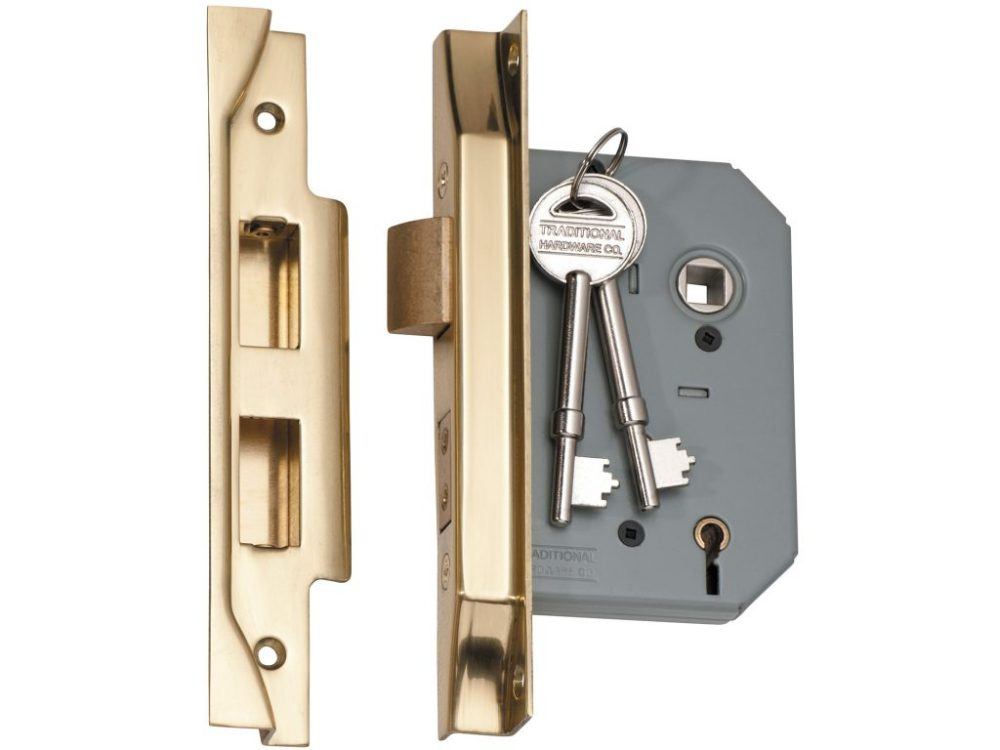 Tradco 57mm Backset 5 Lever Rebated Mortice Lock
