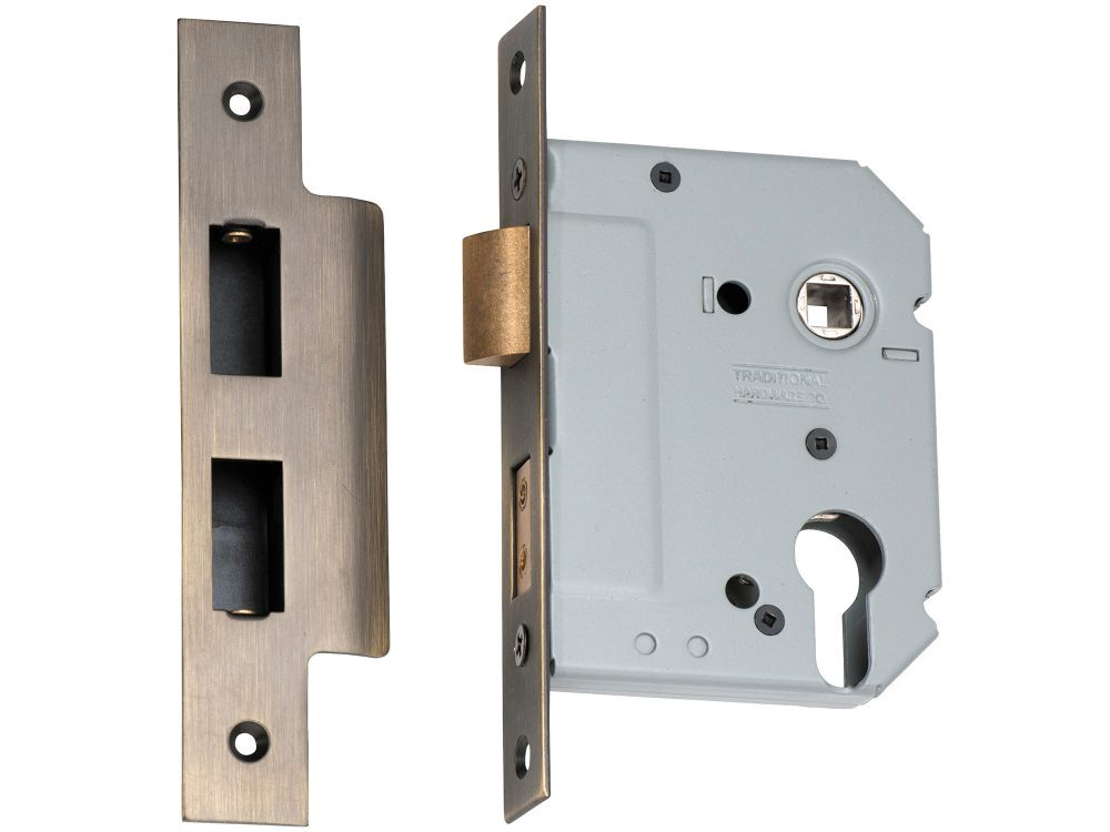 Tradco 57mm Backset Euro Mortice Lock