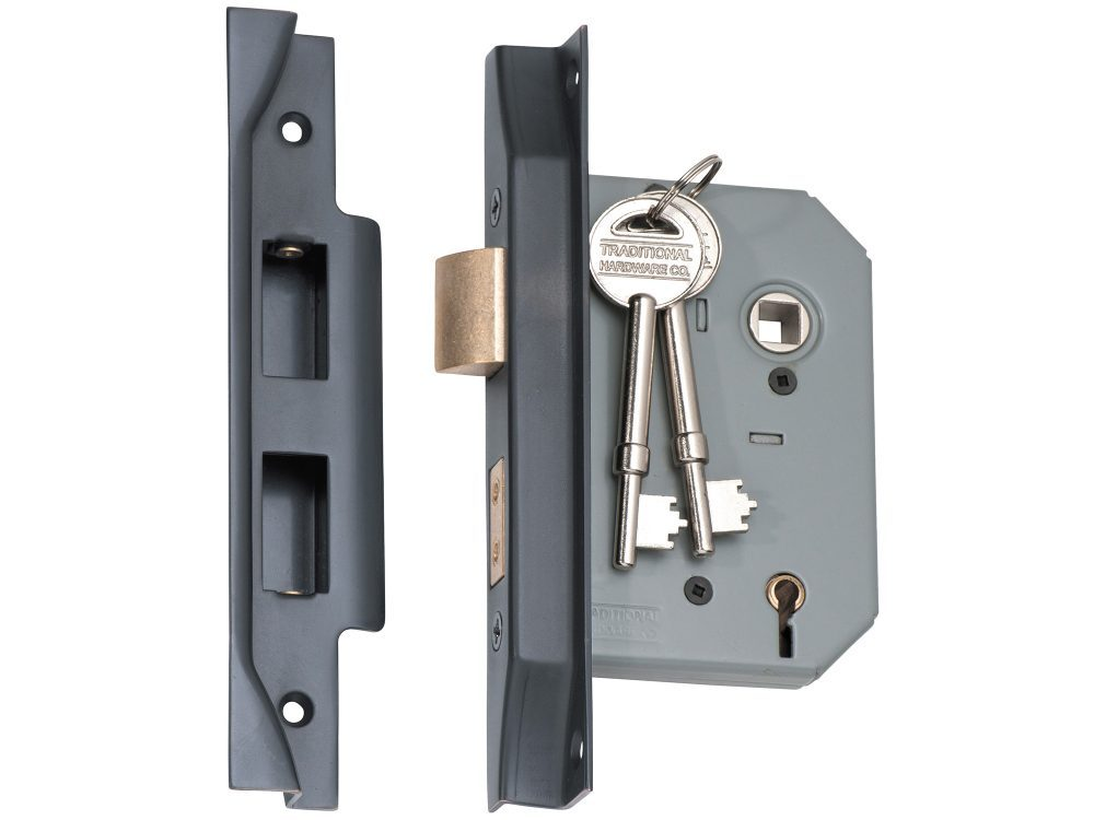 Tradco 57mm Backset 5 Lever Rebated Mortice Lock