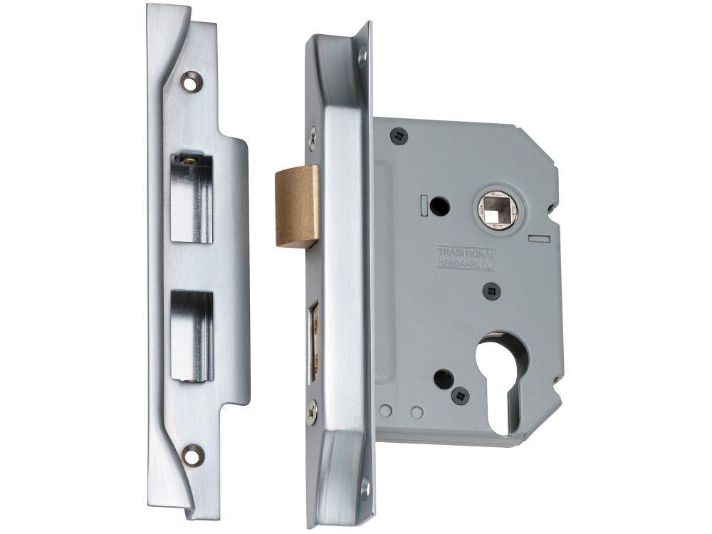 Tradco 57mm Backset Euro Rebated Mortice Lock