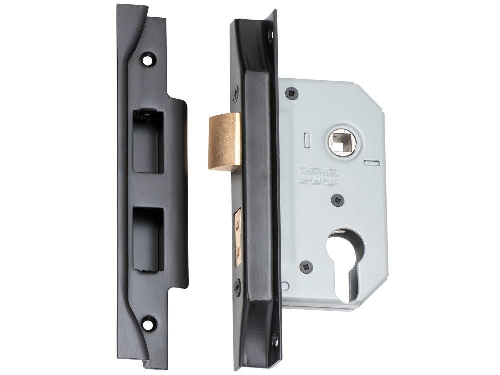 Tradco 46mm Backset Euro Rebated Mortice Lock