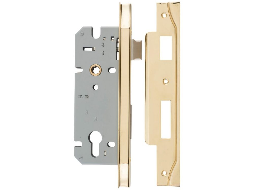 Tradco 60mm Backset Rebated Euro Mortice Lock