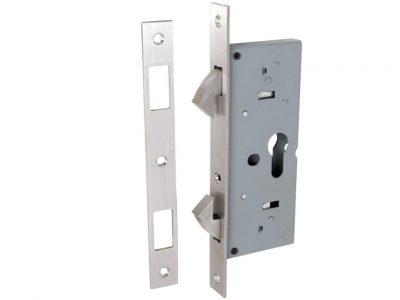 Tradco 45mm Backset Sliding Door Lock