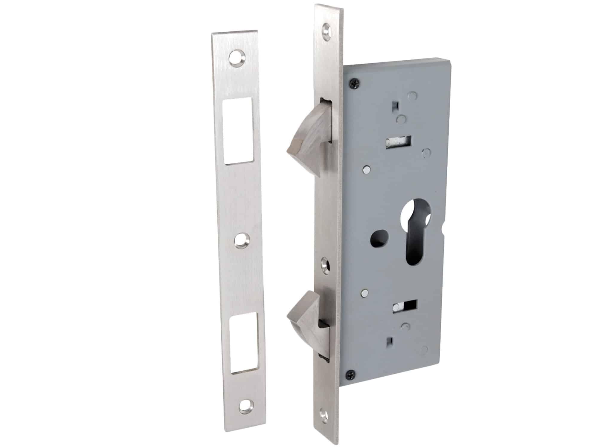 Tradco 45mm Backset Sliding Door Lock Key Locking Residential Mortice Lock Interior Effects