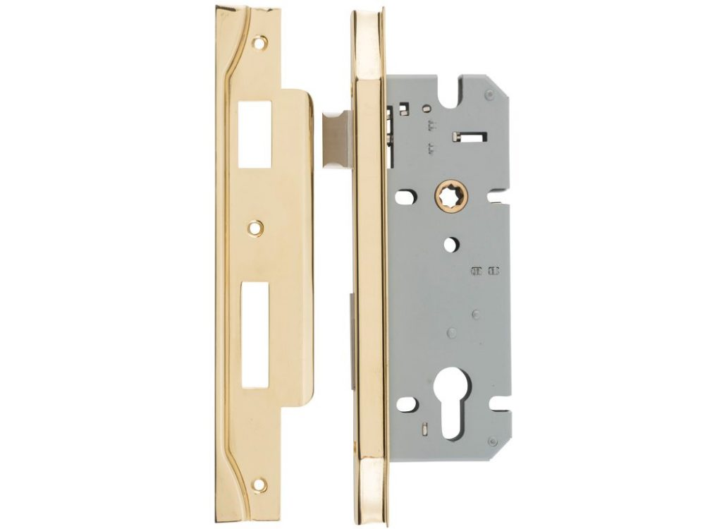 Tradco 45mm Backset Rebated Euro Mortice Lock