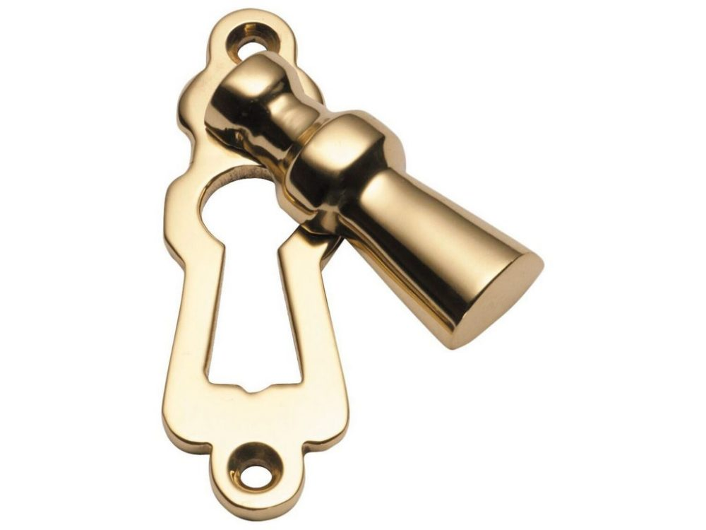 Tradco Covered 5 Lever Keyhole Escutcheons