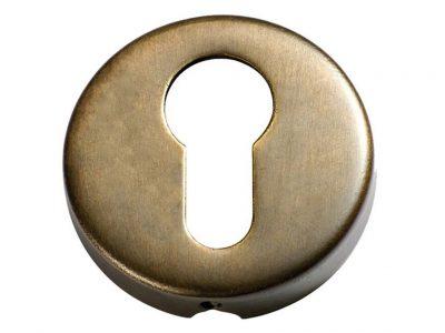 Tradco 50mm Round Euro Keyhole Escutcheons