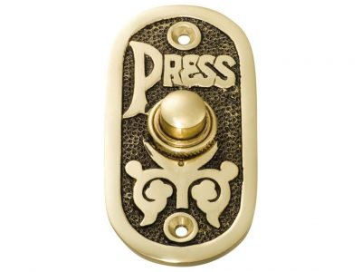 Tradco 40 x 80mm Ornate Door Bell Button