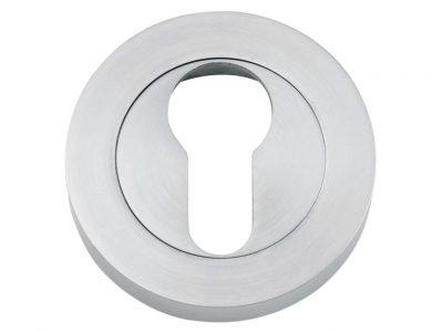 Tradco 52mm Round Euro Keyhole Escutcheons