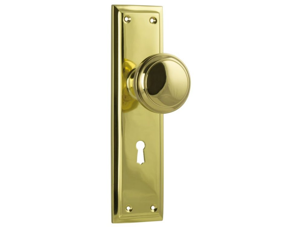 Milton Traditional Style Knob on Lever Locking Plate