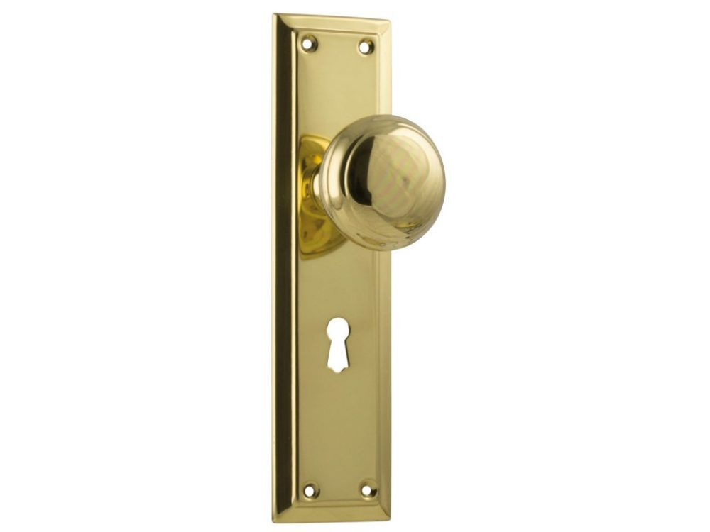 Richmond Traditional Style Knob on Lever Locking Plate