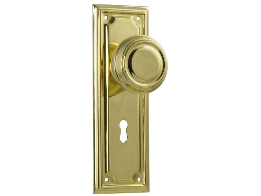 Edwardian Traditional Style Knob on Locking Plate