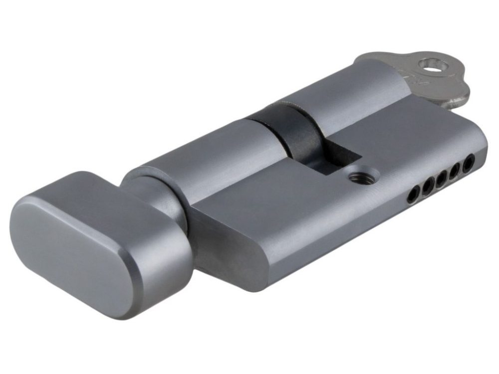 Tradco 60mm C4 5 Pin Euro Cylinders With Turn
