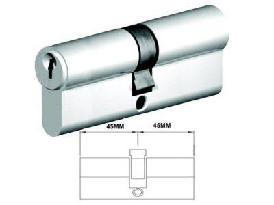 Lockwood 90mm C4 5 Pin Double Key Euro Cylinder