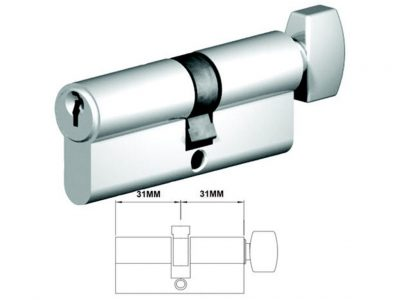 Lockwood 62mm C4 5 Pin Double Key Euro Cylinder CT Fixed Cam