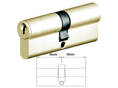 Lockwood 70mm C4 6 Pin Double Key Euro Cylinder Fixed Cam