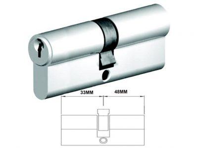 Lockwood 81mm C4 5 Pin Double Key Euro Cylinder Fixed E Cam