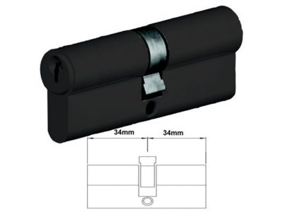 Lockwood 68mm C4 5 Pin Double Key Euro Cylinder Fixed E Cam