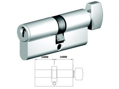 Lockwood 68mm C4 5 Pin Double Key Euro Cylinder CT Fixed Cam