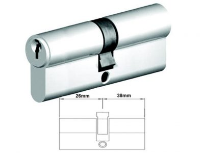 Lockwood 64mm C4 5 Pin Double Key Euro Cylinder DC Fixed Cam
