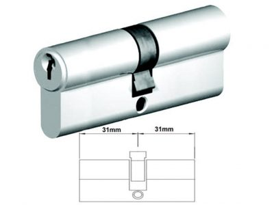 Lockwood 62mm C4 5 Pin Double Key Euro Cylinder Floating Cam