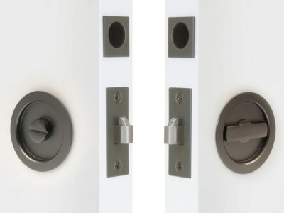 Windsor Brass Round Locking Cavity Handle Set
