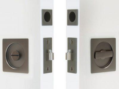 Windsor Brass Square Locking Cavity Handle Set