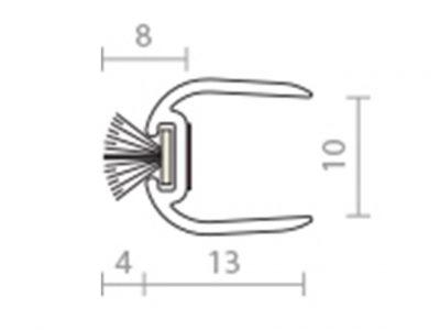 Raven RP103 10mm Frameless Glass Astragal Seal
