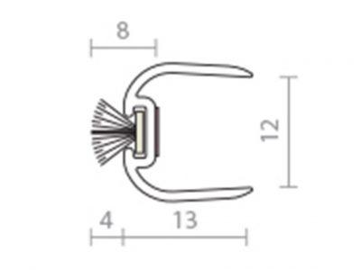 Raven RP104 12mm Frameless Glass Astragal Seal