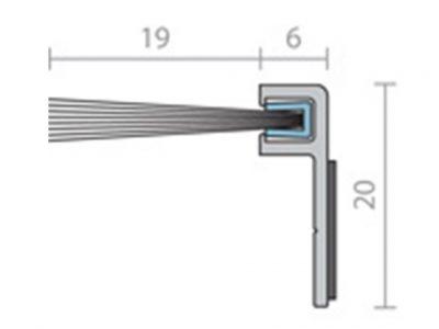 Raven RP49 19mm Brush Strip Seal