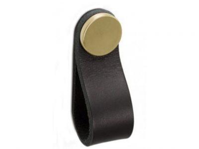 Flexa Black Leather Tab Handles