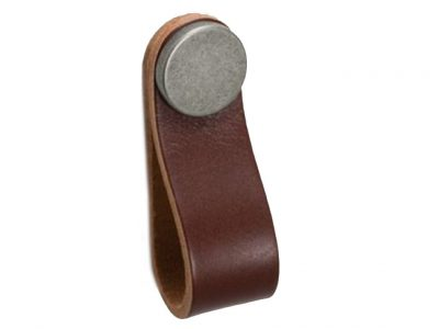 Flexa Brown Leather Tab Handles
