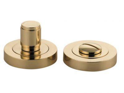 Bankston Berlin Polished Brass Round Privacy Turn