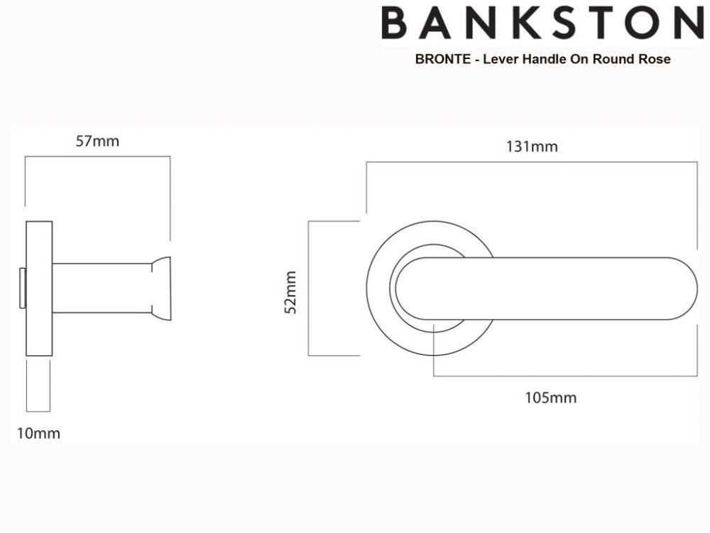 Bankston Bronte Antique Brass Lever Handle On Round Rose